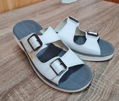 Антистатические кожаные сандалии DOKA-CA-43 белая