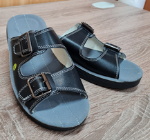 Антистатические кожаные сандалии DOKA-CA-43-черный